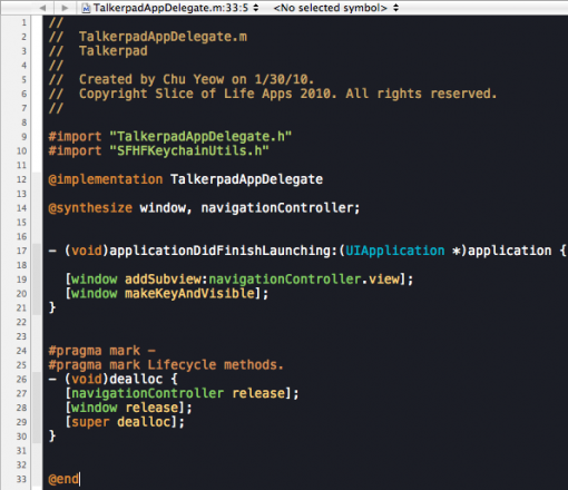 Railscasts Xcode theme