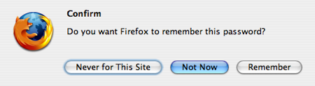 Firefox 2 modal 'remember my password' dialog