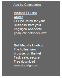 Screenshot of Stop-Sign's Firefox ad
