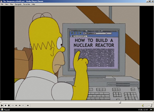 A scene in The Simpsons Season 15 Episode 5 where Homer uses a browser with tabbed browsing