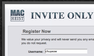 MacHeist registration page courtesy of TUAW