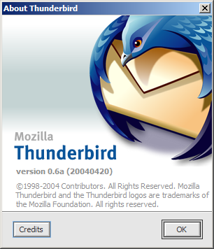 Screenshot of the new Thunderbird About dialog